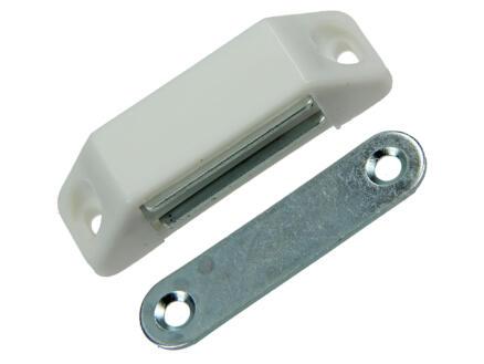 Loqueteau magnétique blanc 60mm 2 pièces