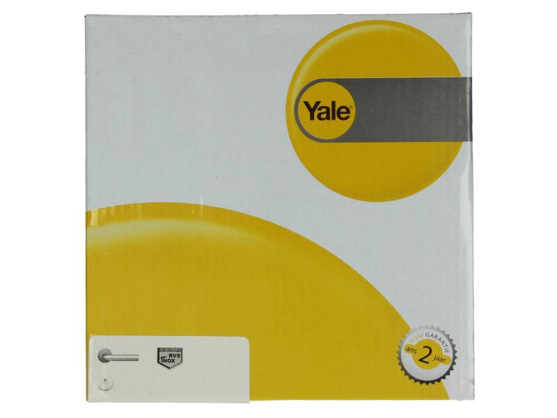 Yale Lotus BB poignée de porte avec rosaces 53mm set complet inox