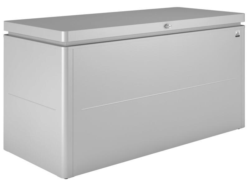 Biohort LoungeBox 160 coffre de jardin 160x70x83,5 cm argent métallique