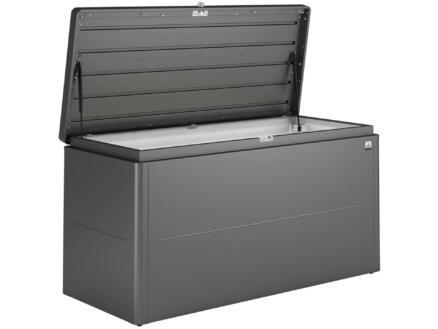 Biohort LoungeBox 160 coffre de jardin 160x70x83,5 cm gris foncé métallique