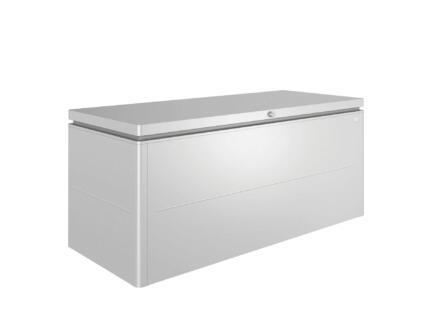 Biohort LoungeBox 200 coffre de jardin 200x84x88,5 cm argent métallique