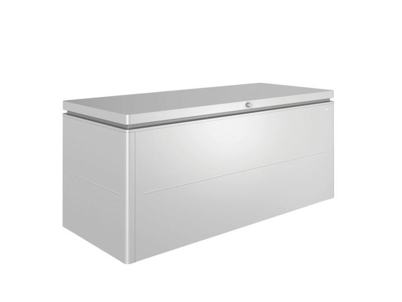 Biohort LoungeBox 200 kussenbox 200x84x88,5 cm zilver metallic