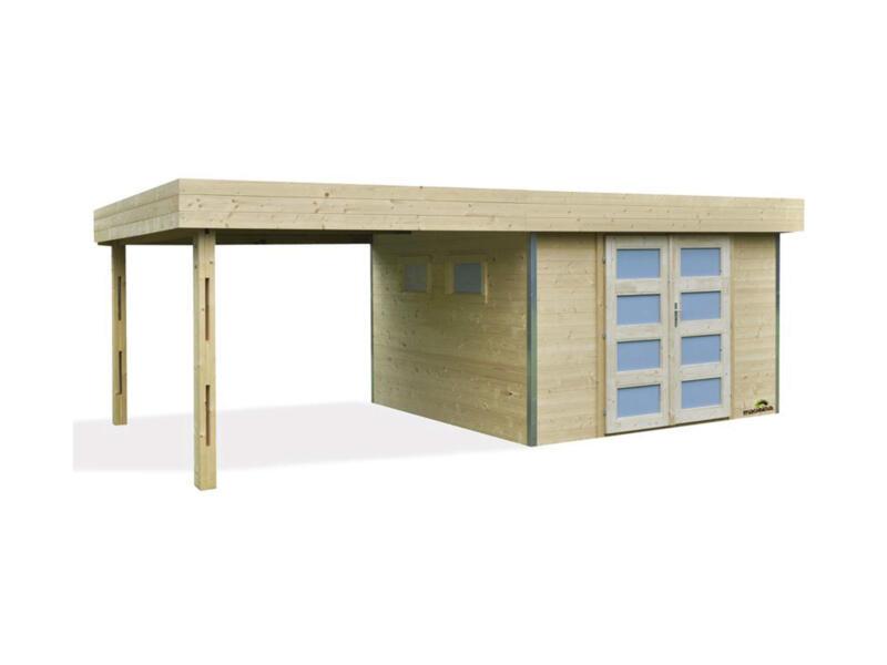 Lounj tuinhuis 300x300x220 cm + uitbreiding