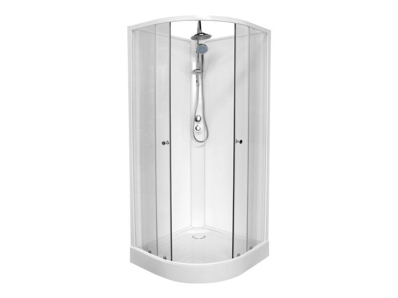 Van Marcke go Lucca cabine de douche complète 90x90x222,5 cm quart de rond