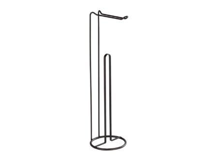 Wenko Lugano WC-accessoireset 2-in-1 zwart