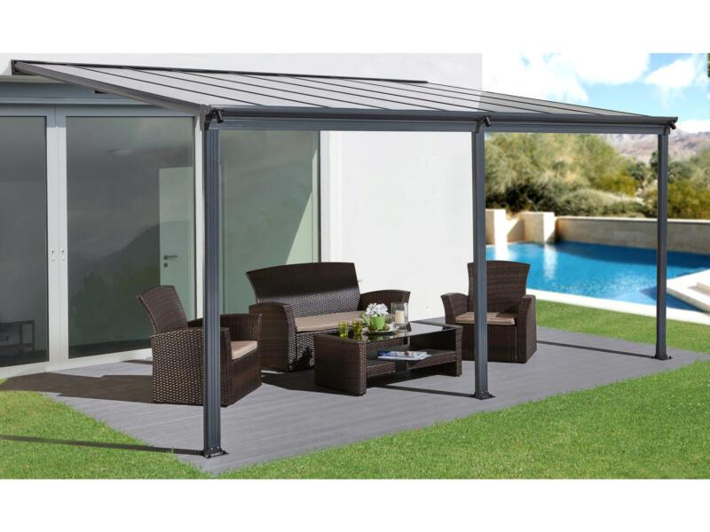 Garden Plus Lugo pergola 3,03x4,95 m transparent/anthracite