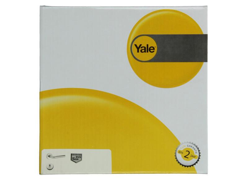 Yale Luna BB poignée de porte avec rosaces 53mm set complet inox