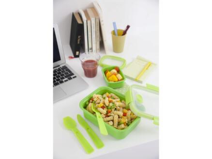 Curver Lunchbox met bestek Smart To Go 1l rechthoekig