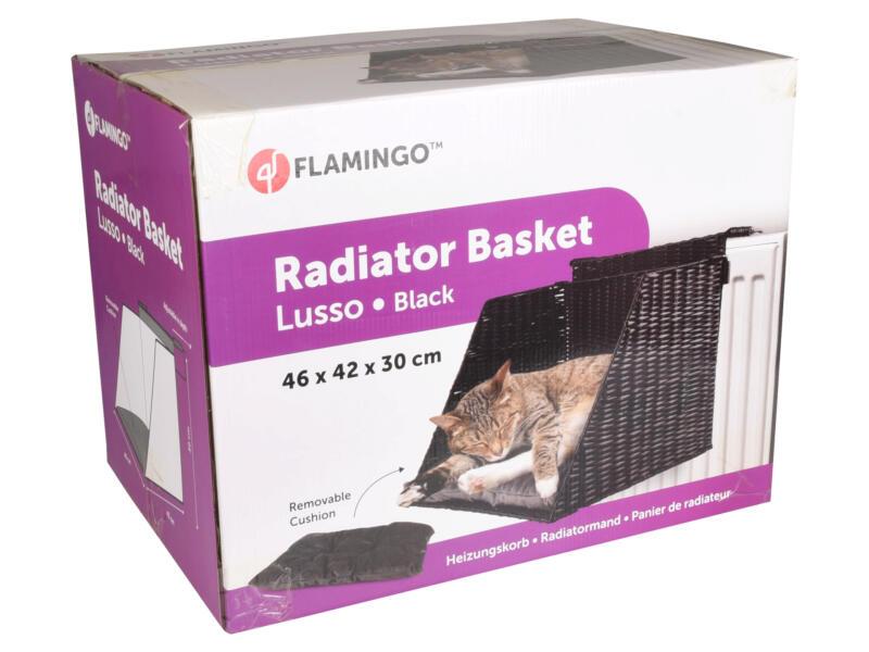 Flamingo Lusso kattenhangmand radiator 46x42x30 cm zwart