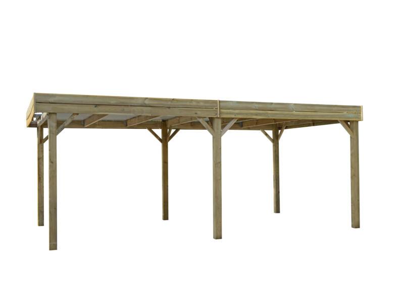 Luxor carport 300x600 cm hout