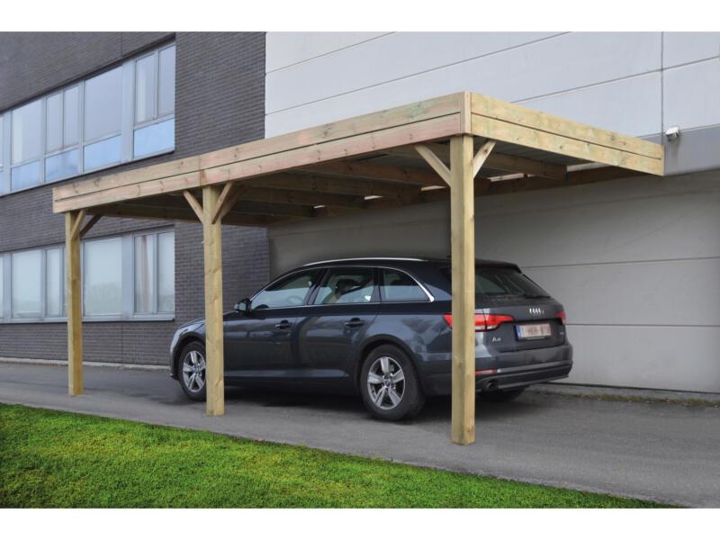 Luxor carport aanbouw 300x600 cm hout