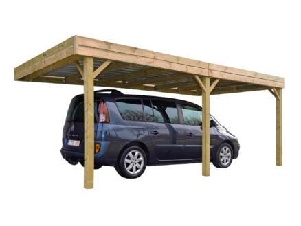 Luxor carport adossé 300x600 cm bois