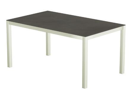 Luxury Cement table de jardin 150x100 cm anthracite/blanc