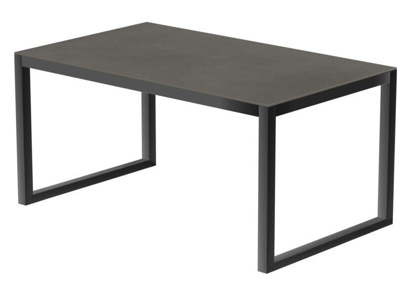 Luxury Cement table de jardin 240x100 cm anthracite