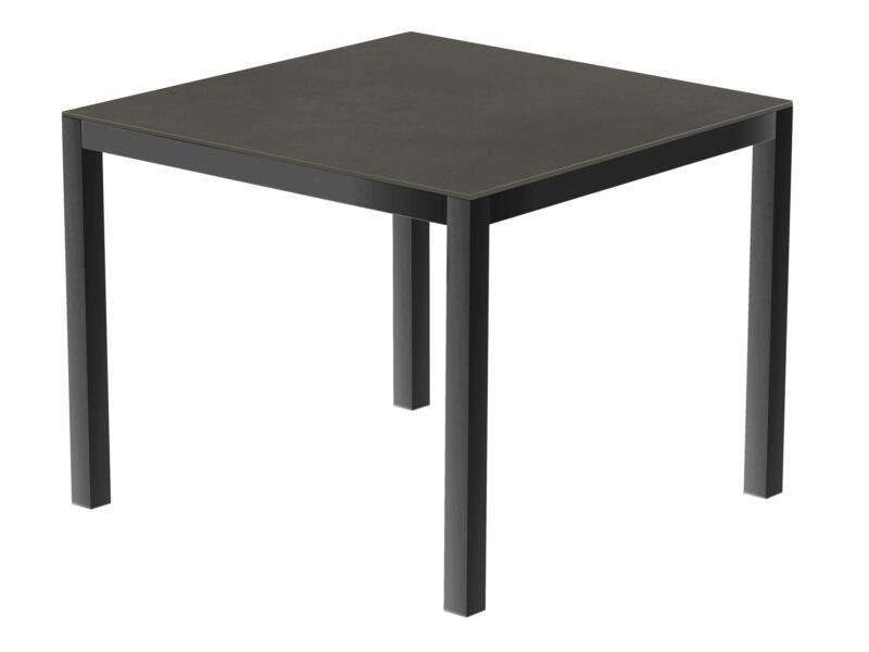 Luxury Cement table de jardin 90x90 cm anthracite