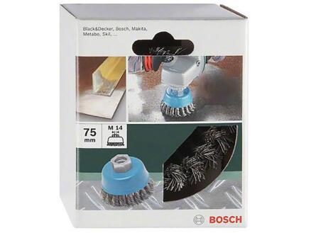 Bosch M14 komborstel 75mm gevlochten draad