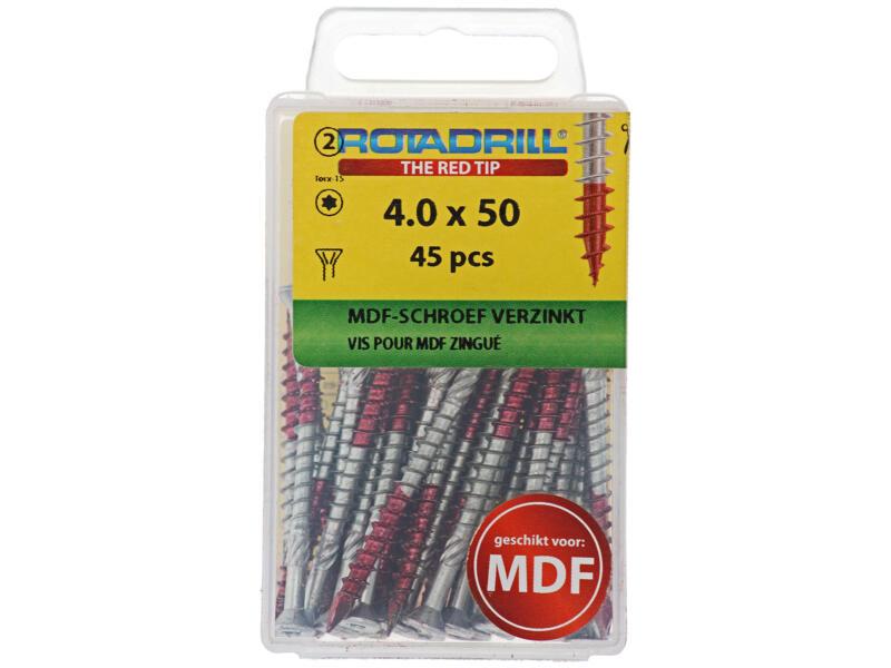 Rotadrill MDF-schroeven TX15 50x4 mm verzinkt 45 stuks
