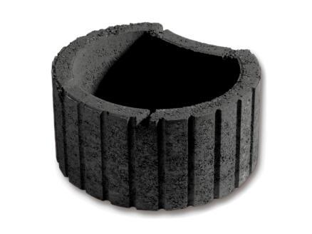 Maan 2 bloembak 50x42 cm beton antraciet