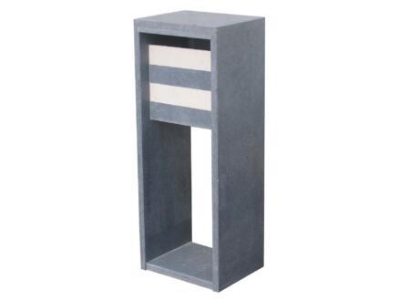 VASP Madrid Moderne boîte aux lettres pierre bleue belge gris et blanc