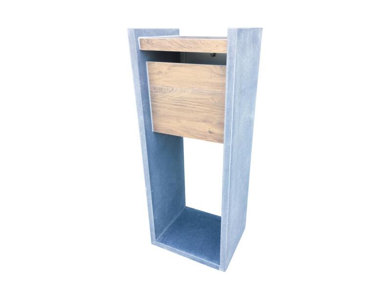 VASP Madrid Woodlook boîte aux lettres pierre bleue belge