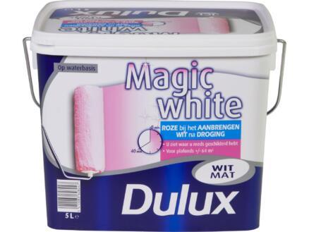 Dulux Magic white peinture mur & plafond mat 5l blanc