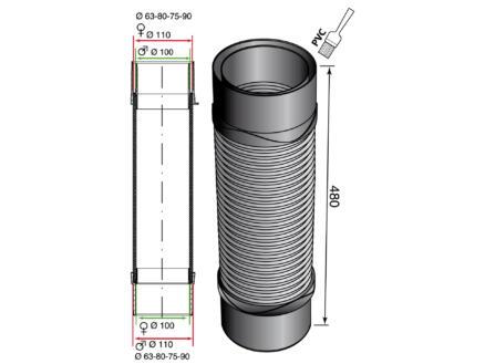 Wirquin Magicoude raccord 100-110 mm