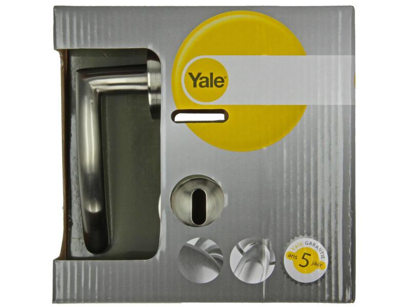 Yale Manon BB deurklinkset op rozet 51mm mat vernikkeld