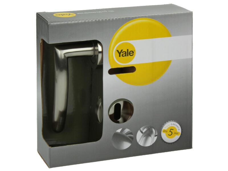 Yale Manon BB poignée de porte avec rosaces 51mm set complet nickelé mat