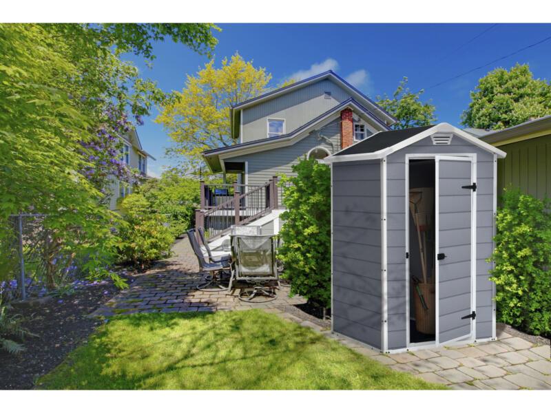 Keter Manor 43 abri de jardin 128x94x196 cm matière synthétique gris