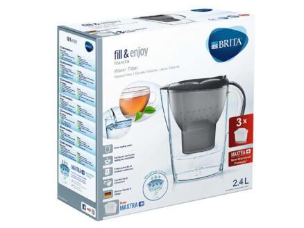 Brita Marella Cool waterfilterkan grijs + 3 filters