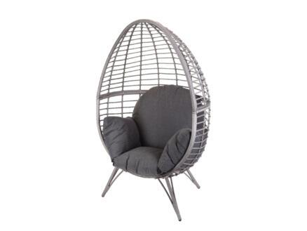 Garden Plus Maro fauteuil oeuf cocoon gris