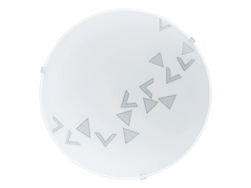 Eglo Mars wand- en plafondlamp driehoek E27 max. 60W wit