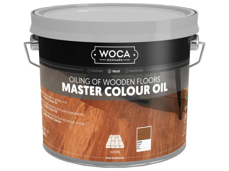 Woca Master Colour huile bois 2,5l blanc