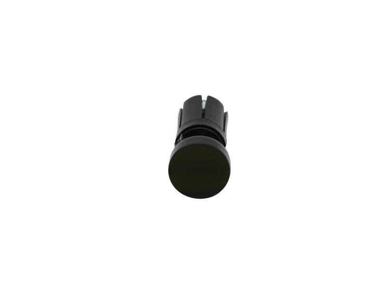 Match eindkap gordijnroede 20mm zwart 2 stuks