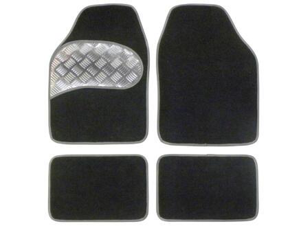Carpoint Mattenset Sportivo Silver 4 stuks