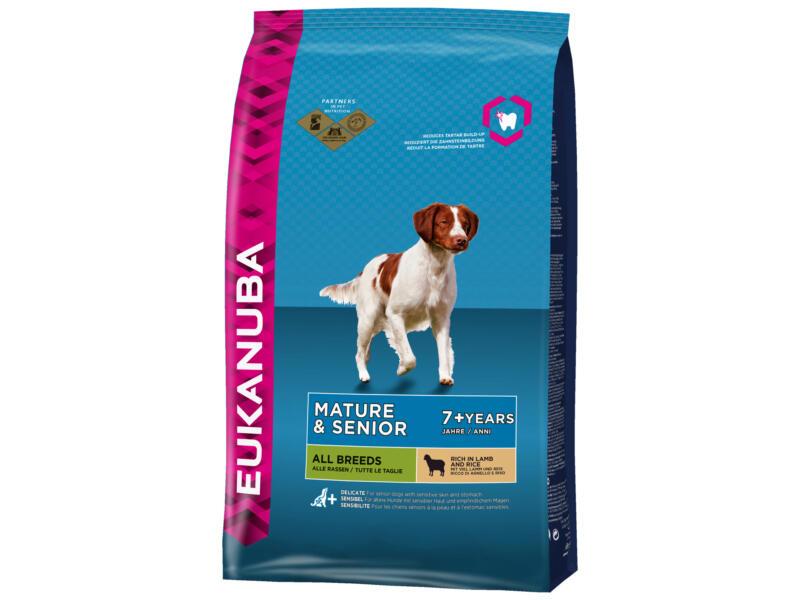 Mature & Senior All Breeds croquettes chien lamb & rice 12kg