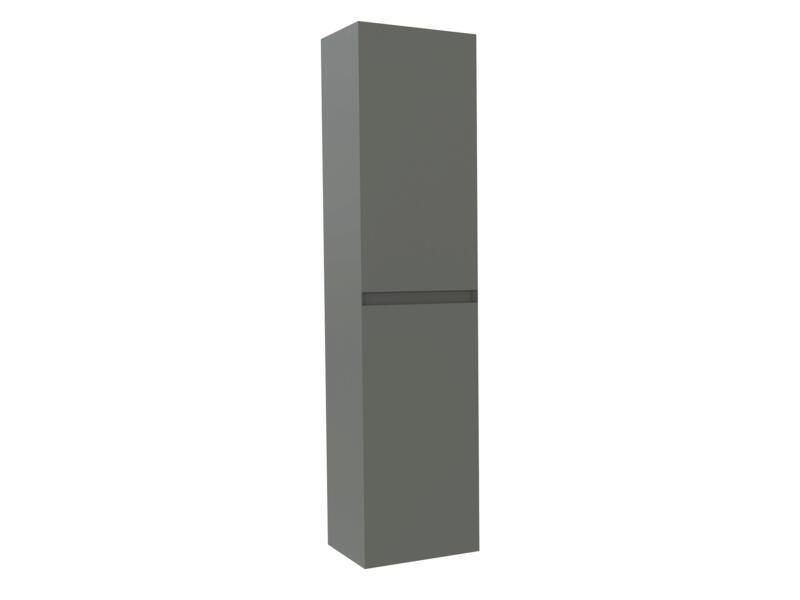 Max meuble colonne 35cm 2 portes gris mat