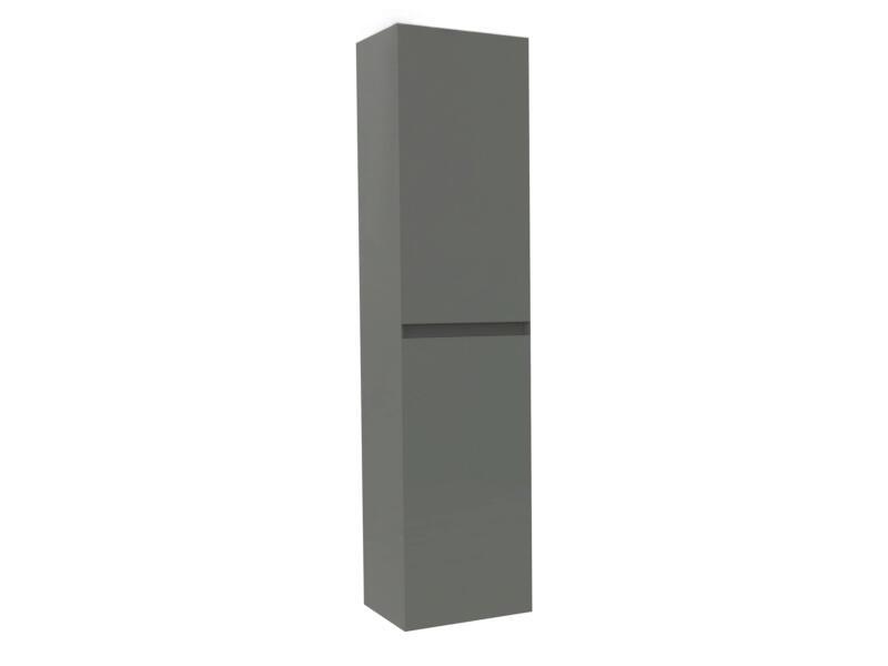 Max meuble colonne 35cm 2 portes gris