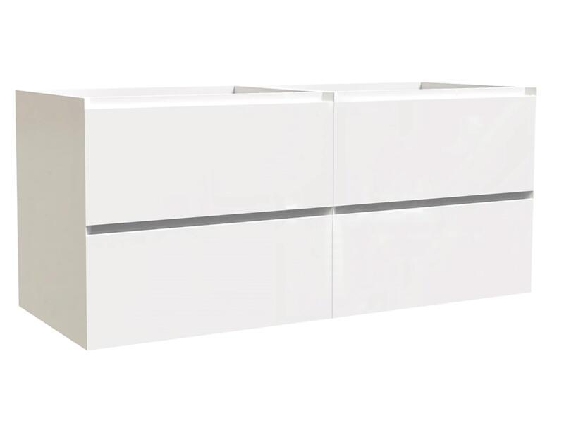 Max meuble lave-mains 120cm 4 tiroirs blanc