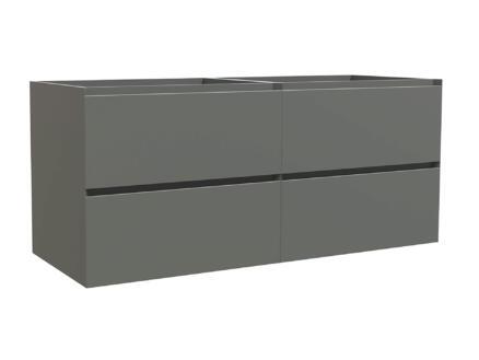 Max meuble lave-mains 120cm 4 tiroirs gris mat