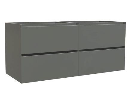 Max meuble lave-mains 120cm 4 tiroirs gris