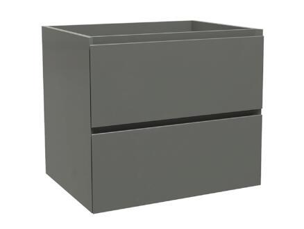 Max meuble lave-mains 60cm 2 tiroirs gris