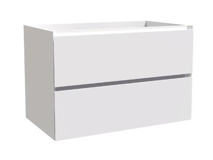 Max meuble lave-mains 80cm 2 tiroirs blanc mat