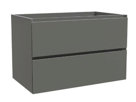 Max meuble lave-mains 80cm 2 tiroirs gris