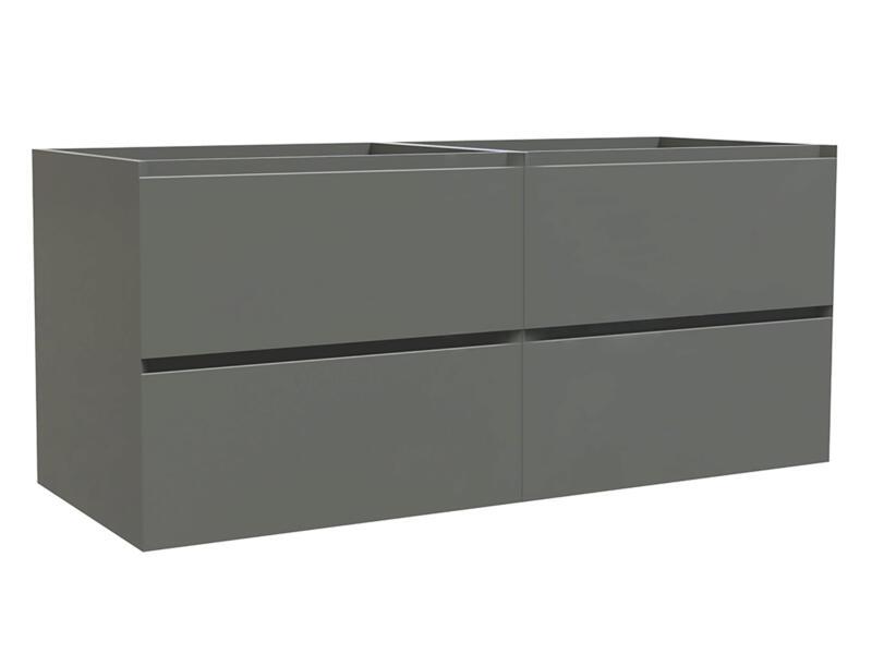 Max wastafelkast 120cm 4 lades grijs