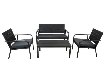 Melbourne loungeset zwart
