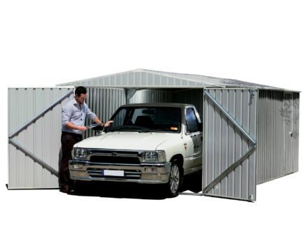 Melton garage 300x450x206 cm staal grijs