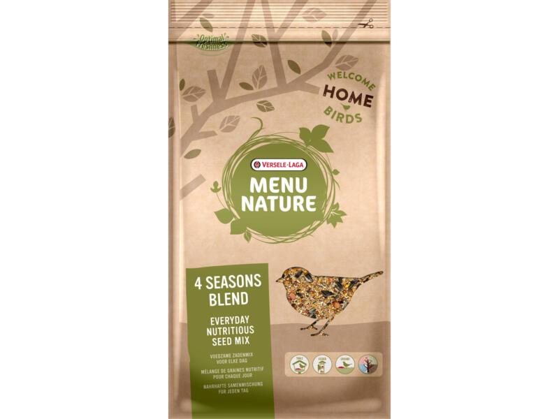 Menu Nature 4 Seasons Blend mélange de graines pour oiseaux du ciel 4kg