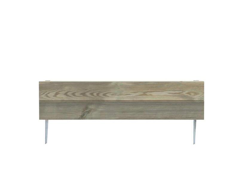 Merina borderhekje 75x3,9x18 cm hout bruin
