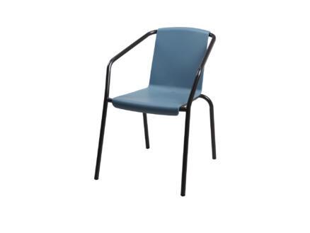 Garden Plus Meru chaise de jardin bleu